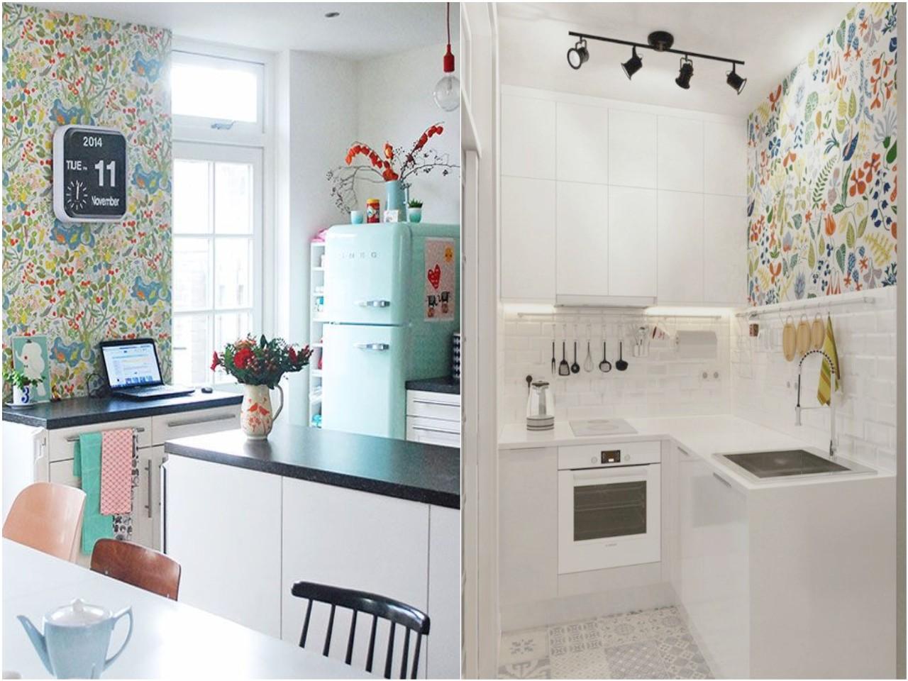 decoraci n de cocinas con papel pintado