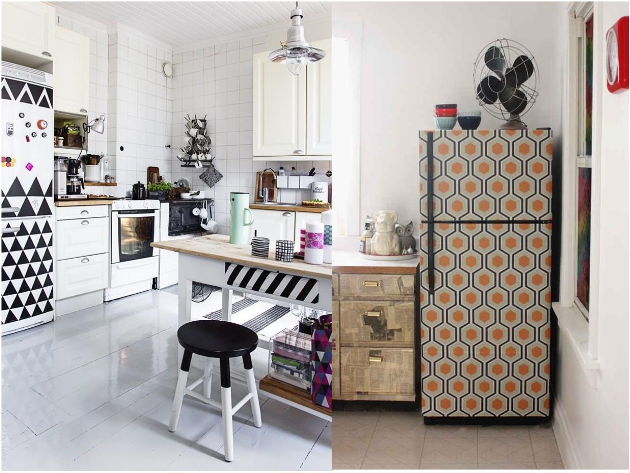 Decoraci n de cocinas con papel pintado - Cocinas con vinilos ...