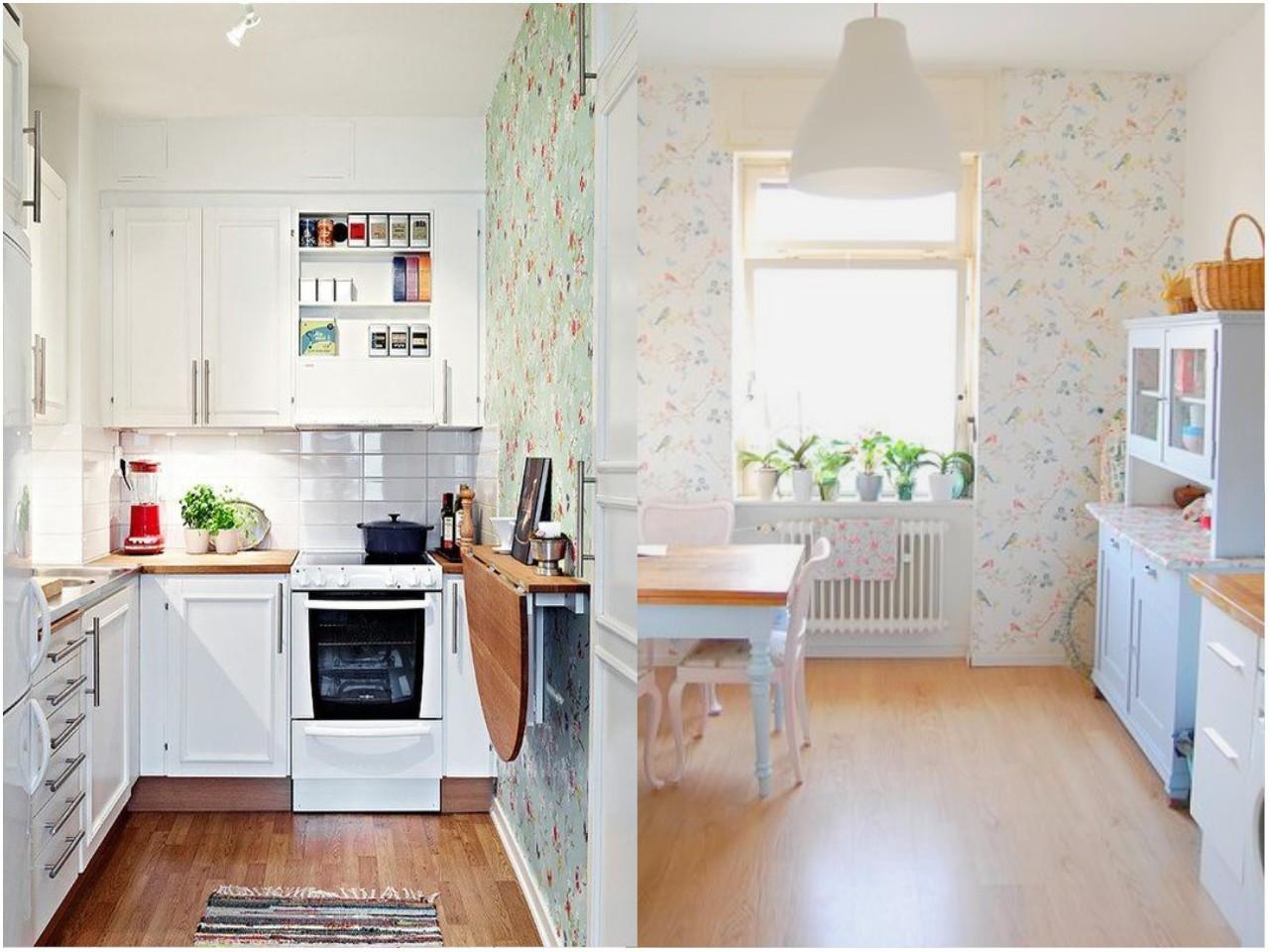 Decoraci n de cocinas con papel pintado - Cocinas con office fotos ...