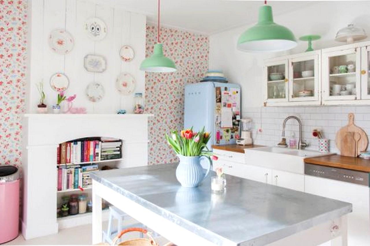 casas decoradas con papel pintado