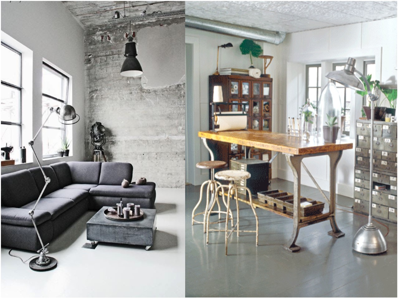 6 claves para una decoraci n vintage industrial for Decoracion retro industrial