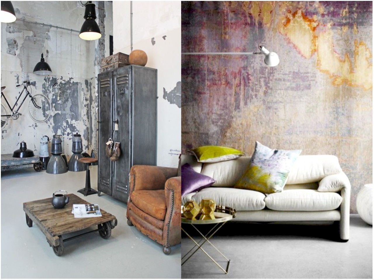 6 claves para una decoraci n vintage industrial - Decoracion pintura paredes ...