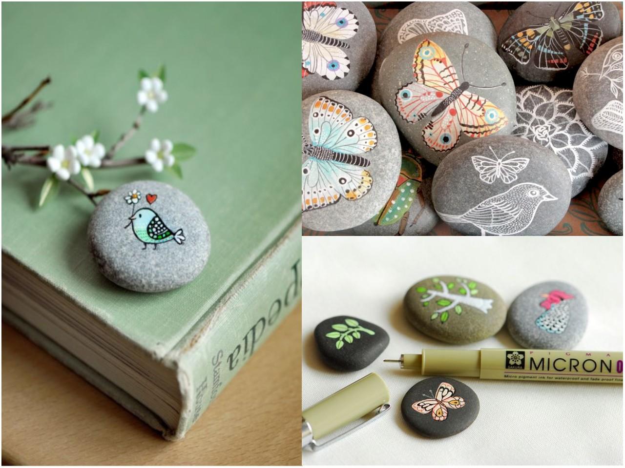Decoracion piedras originales piedras decoradas con for Piedras colores decoracion