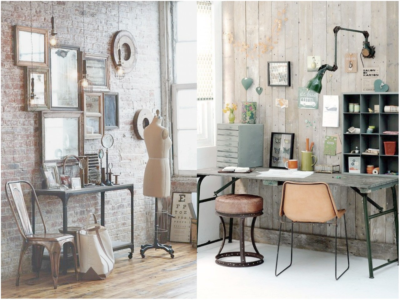 6 claves para una decoraci n vintage industrial for Decoracion salon vintage