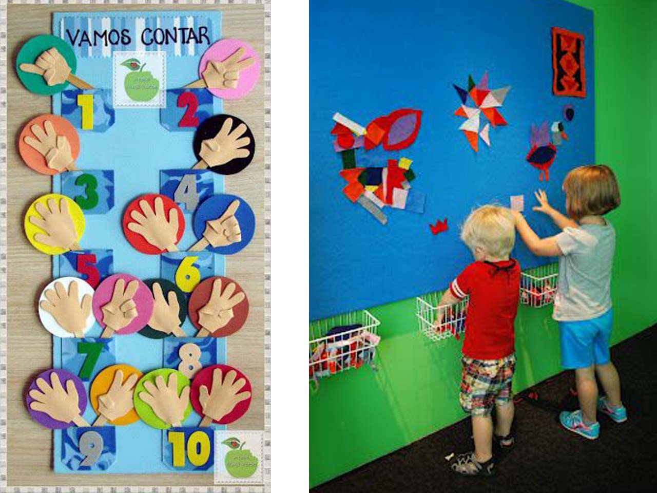12 manualidades molonas de decoraci n infantil con fieltro - Decorar pared infantil ...