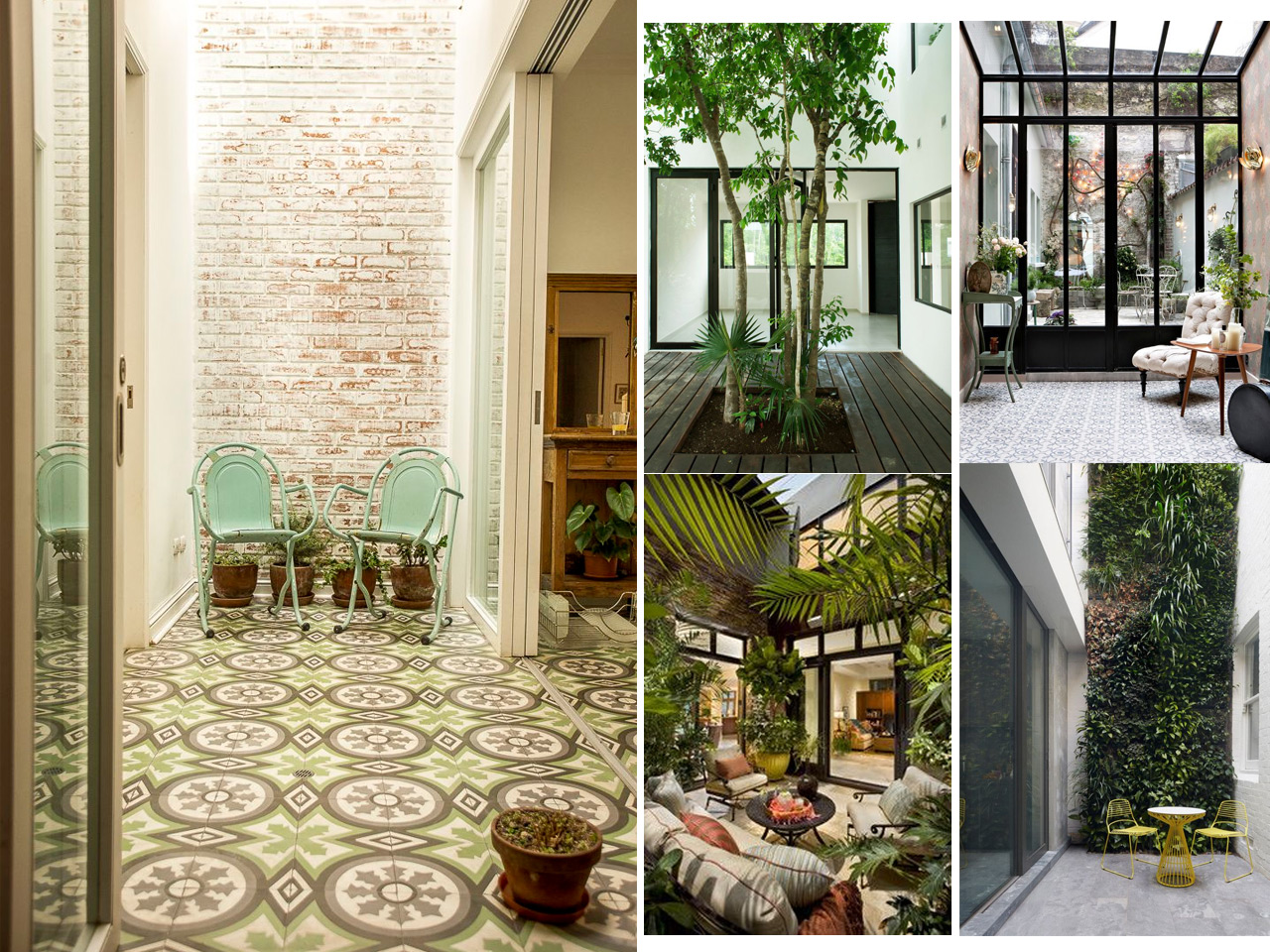 Tus 7 inspiraciones de decoraci n de terrazas interiores for Decoracion de patios pequenos con plantas