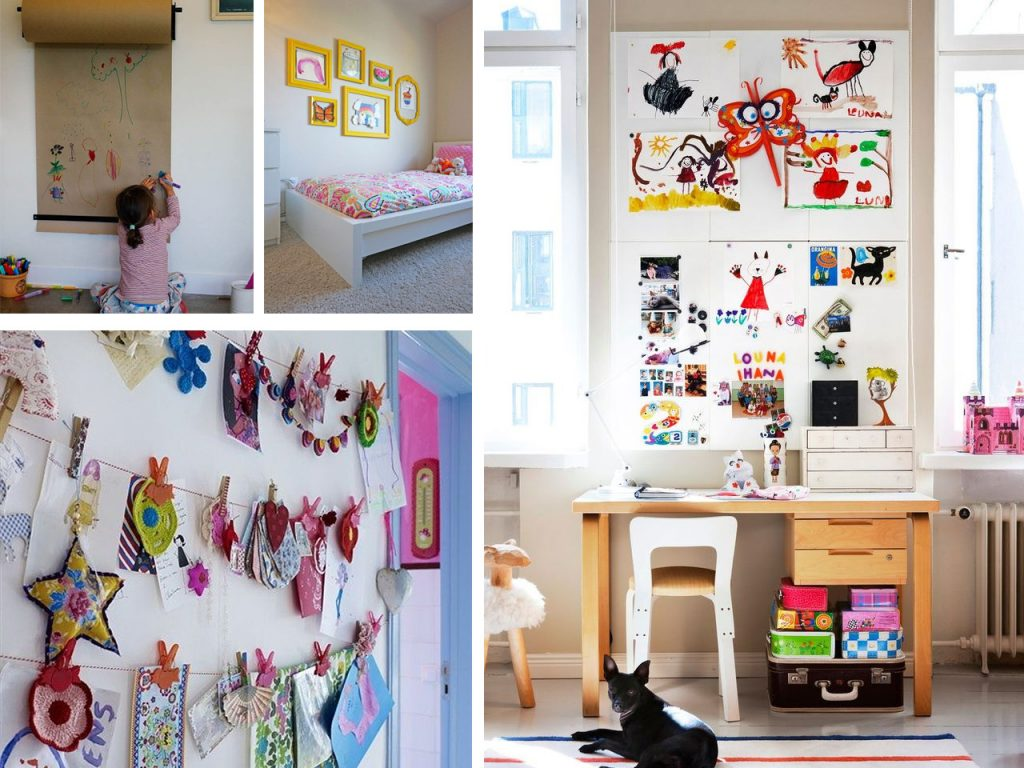 Creatividad y paredes originales para ni os - Como pintar una pared ya pintada ...