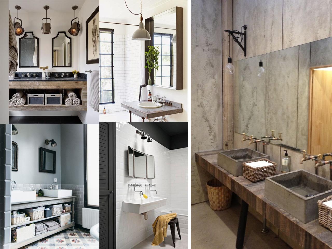 7 buenos y tiles consejos para ba os de estilo industrial - Iluminacion estilo industrial ...