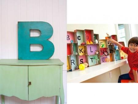 Decorar muebles con letras