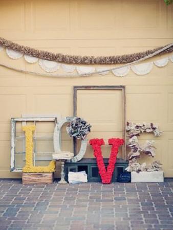 Cómo decorar el suelo con letras