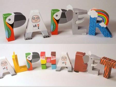 Cómo decorar letras con papel