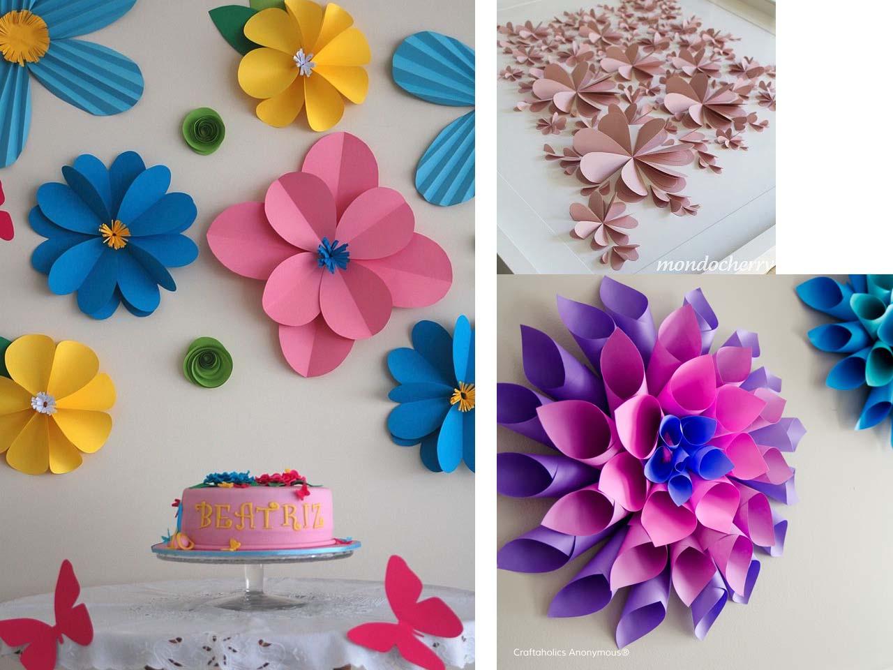 8 trucos de decoraci n con flores para respirar naturaleza - Decorar con papel ...