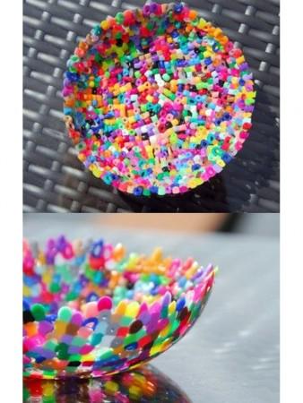 cómo hacer un bol con hama beads