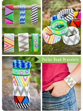cómo hacer pulseras hama beads