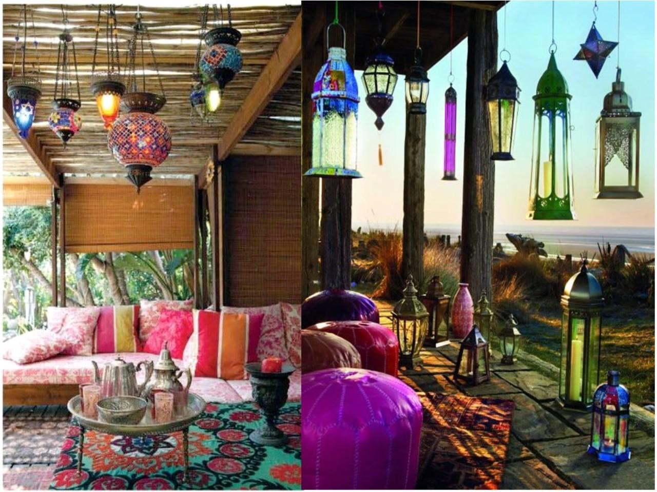 30 ideas para descubrir la decoraci n con luces de colores - Estilo etnico decoracion ...