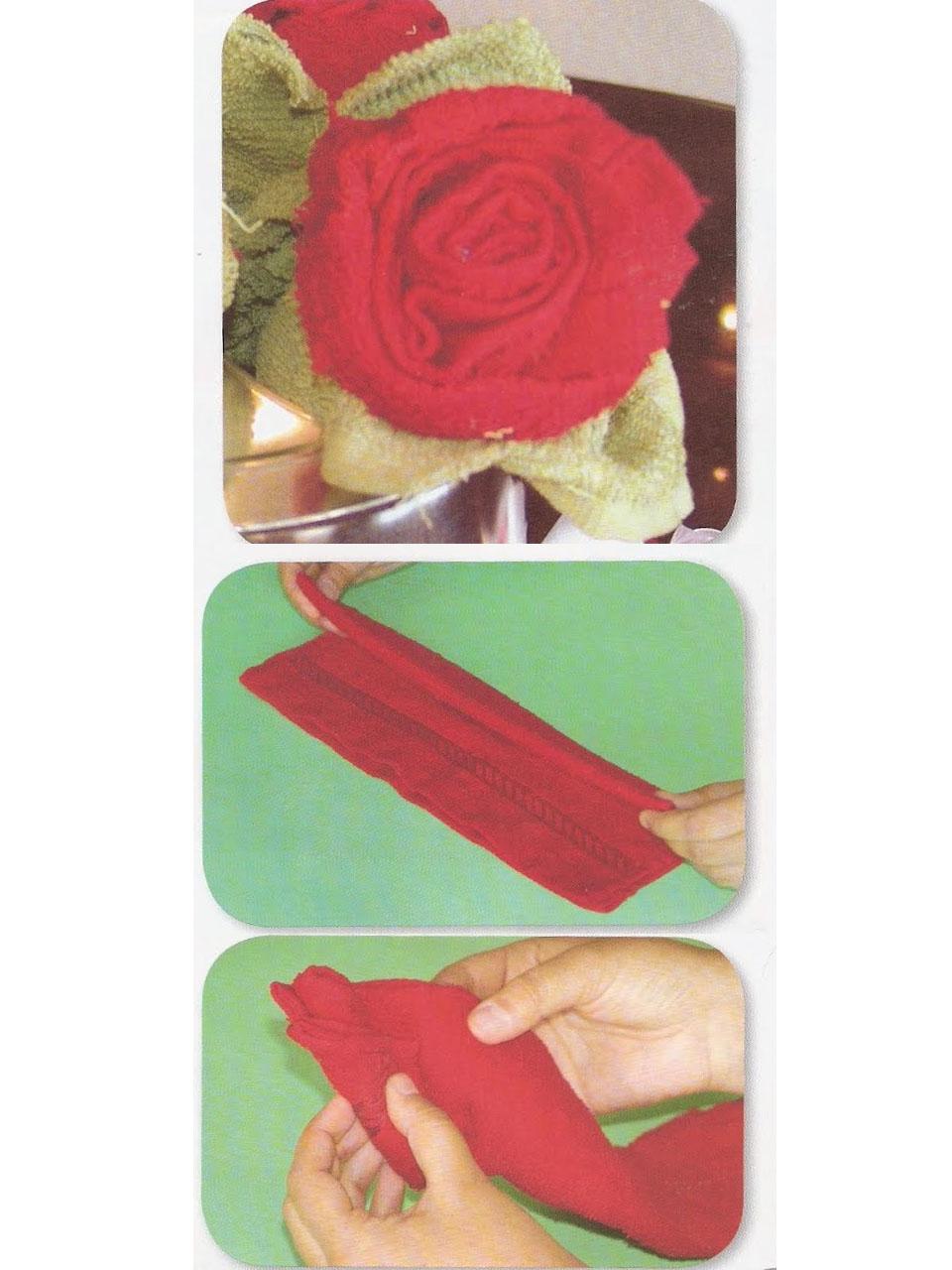 C mo hacer figuras con toallas paso a paso - Como secar una rosa ...