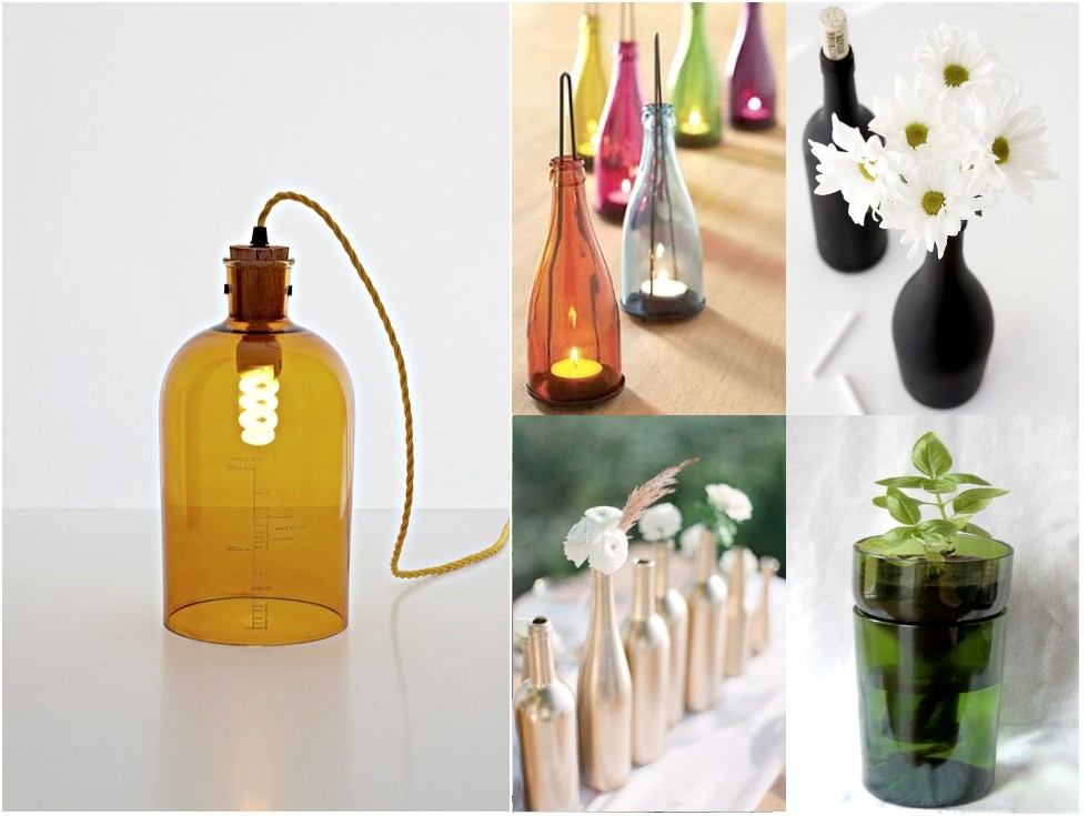 6 mejores y geniales ideas para reciclar botellas de vidrio for Reciclar botes de cristal decoracion
