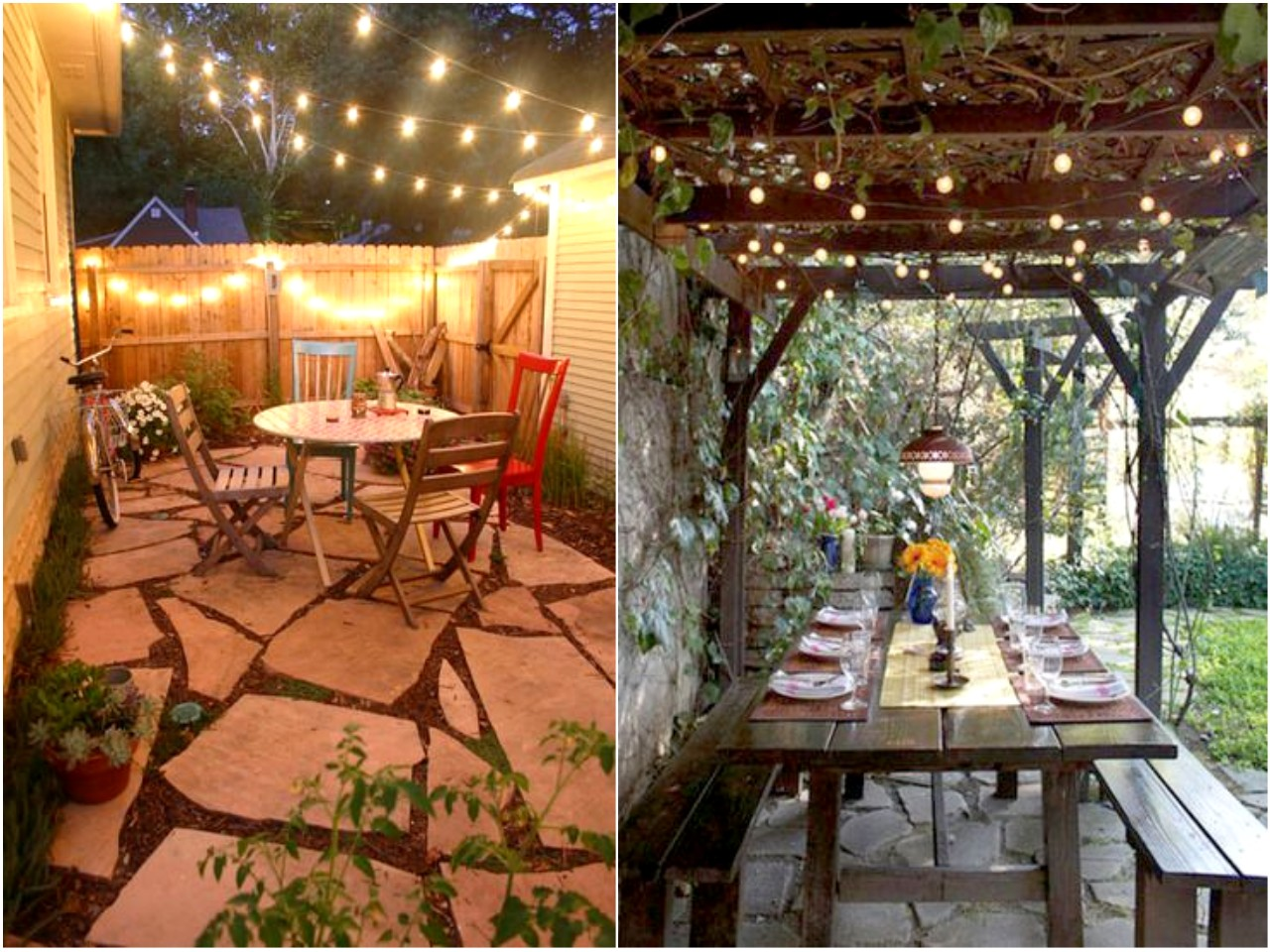 30 ideas para descubrir la decoraci n con luces de colores - Luces patio exterior ...