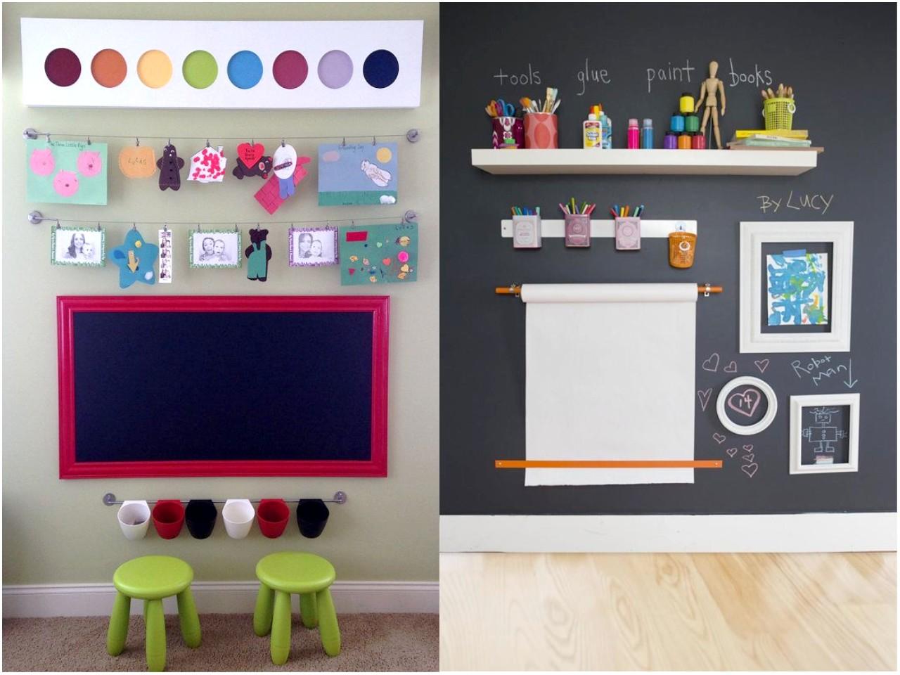 Las 6 mejores ideas de decoraci n con pizarras para casa - Pintura de pizarra para pared ...