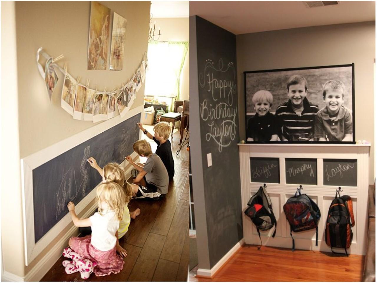 Las 6 mejores ideas de decoraci n con pizarras para casa - Decorar una entrada estrecha ...