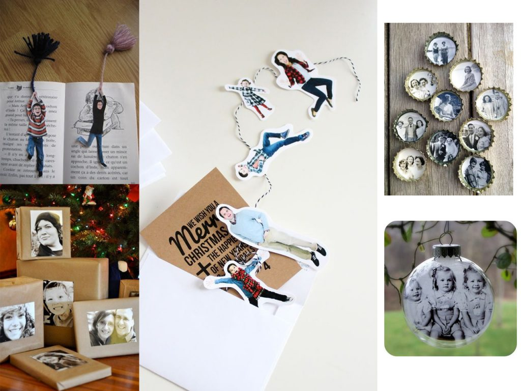 60 brillantes ideas para decorar con fotos familiares - Decoracion regalos navidad ...