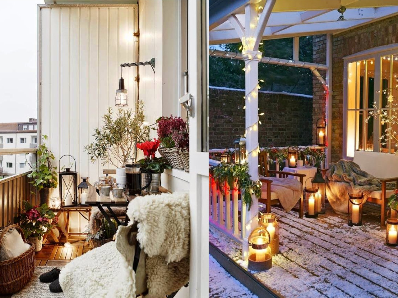 Decorar terrazas con encanto en invierno tambi n for Casas con balcon y terraza