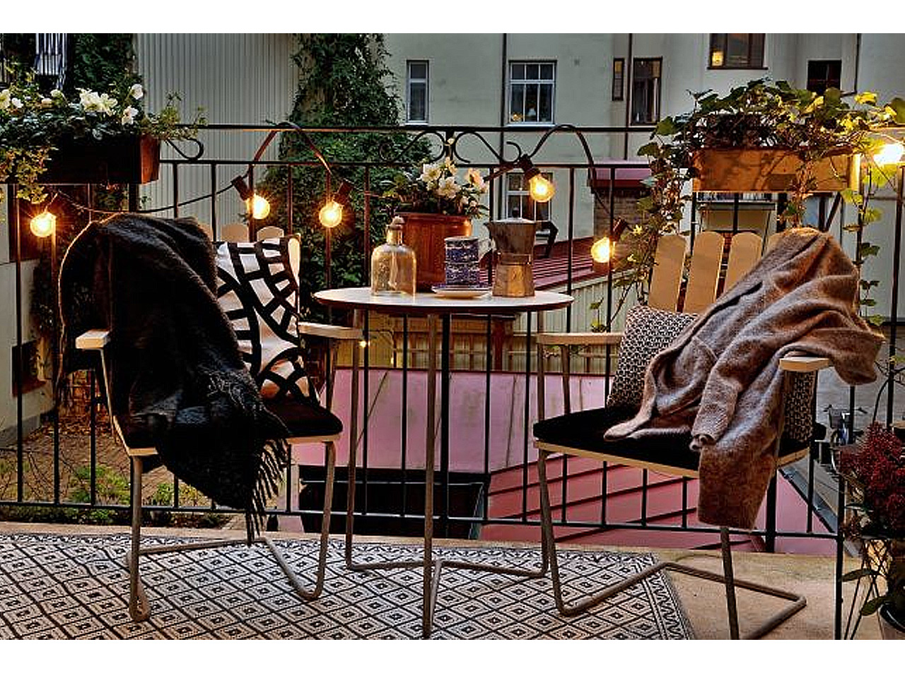 iluminiacin para decorar terrazas con encanto