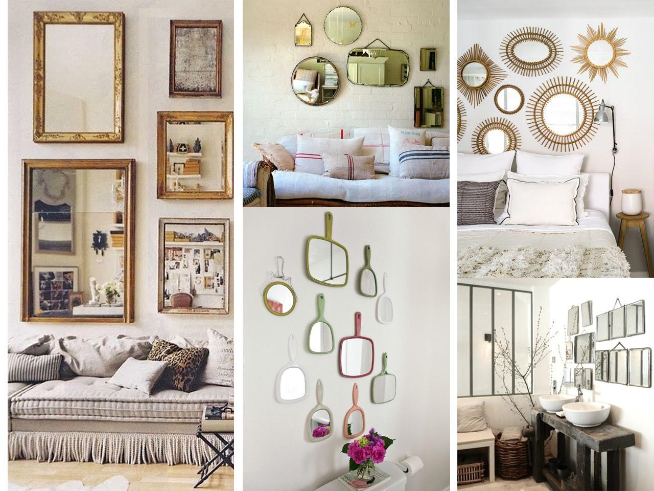 C mo decorar con espejos siguiendo las ltimas tendencias - Espejos para decorar paredes ...