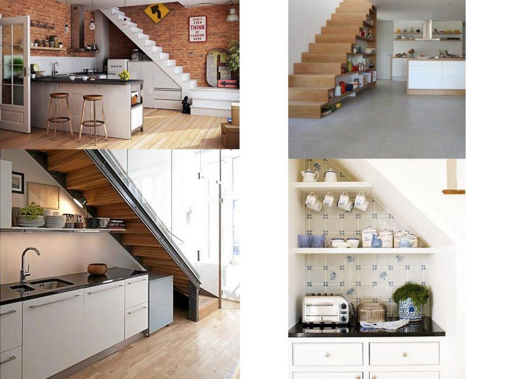 9 ideas de c mo aprovechar espacios debajo de escaleras for Barra bajo escalera