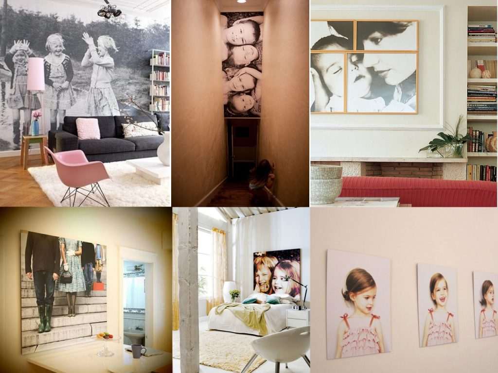 ideas para decorar con fotos familiares XL