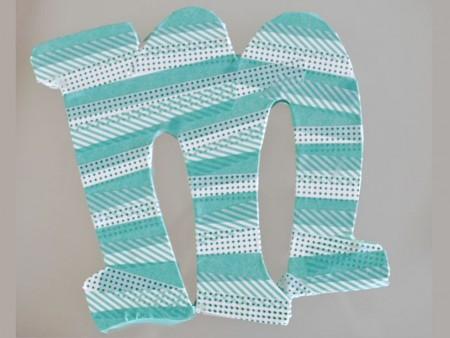 hacer letras con washi tape