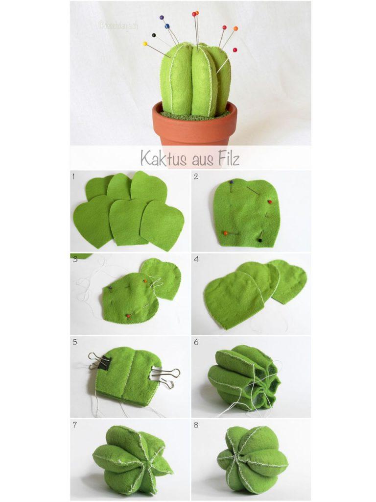 cactus con fieltro
