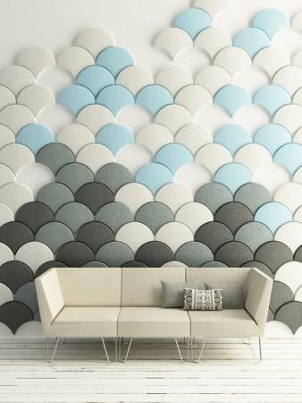 decoración de paneles con fieltro