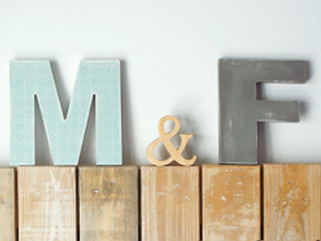 Todos los secretos para decorar con letras de madera - Como decorar una pared con madera ...