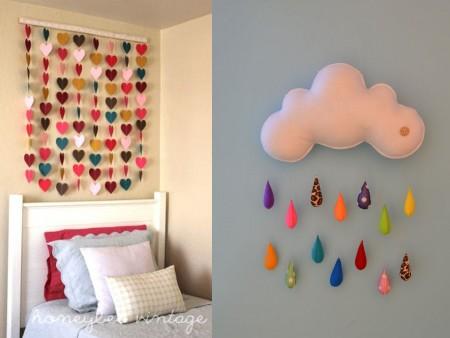 decoración de paredes con fieltro