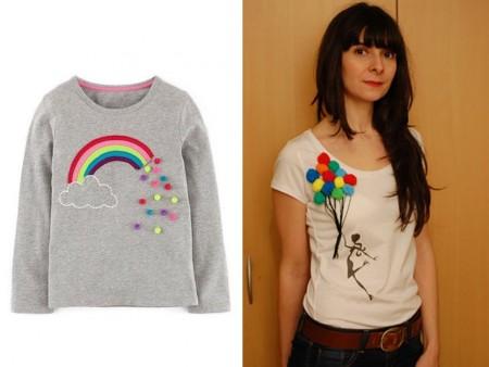 hacer camisetas con pompones