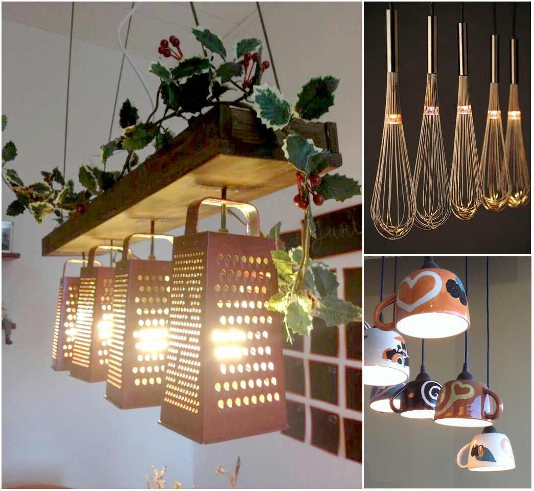 10 ideas originales de reciclar para decorar con l mparas for Accesorios originales para el hogar