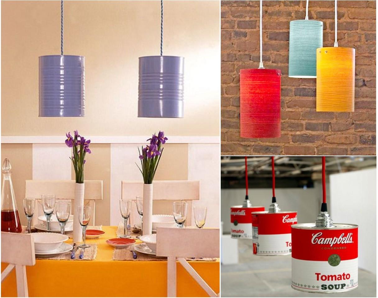 10 ideas originales de reciclar para decorar con l mparas - Lamparas originales de techo ...