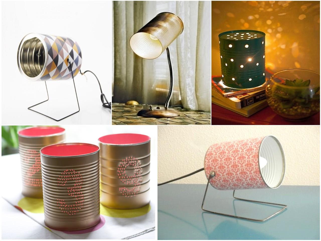 10 ideas originales de reciclar para decorar con l mparas - Reciclar latas de conserva ...