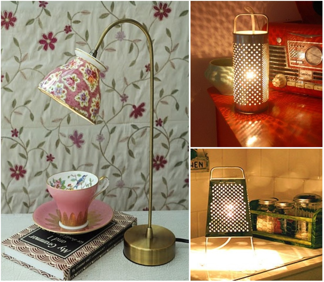 10 ideas originales de reciclar para decorar con l mparas - Decoracion vintage reciclado ...