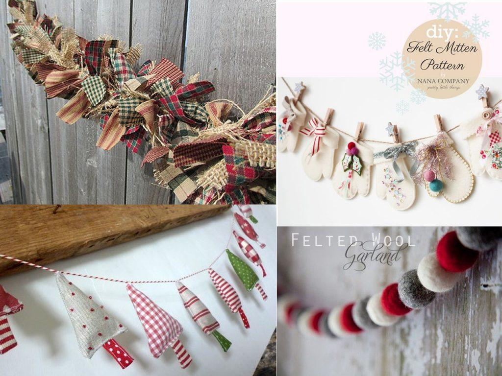 decoracion navideña original con telas