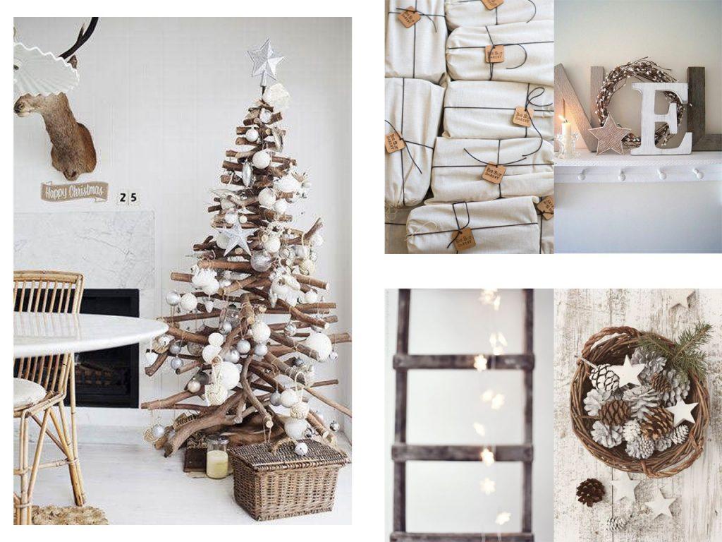 La magia de la decoraci n navide a en blanco - Adornos navidenos de madera ...