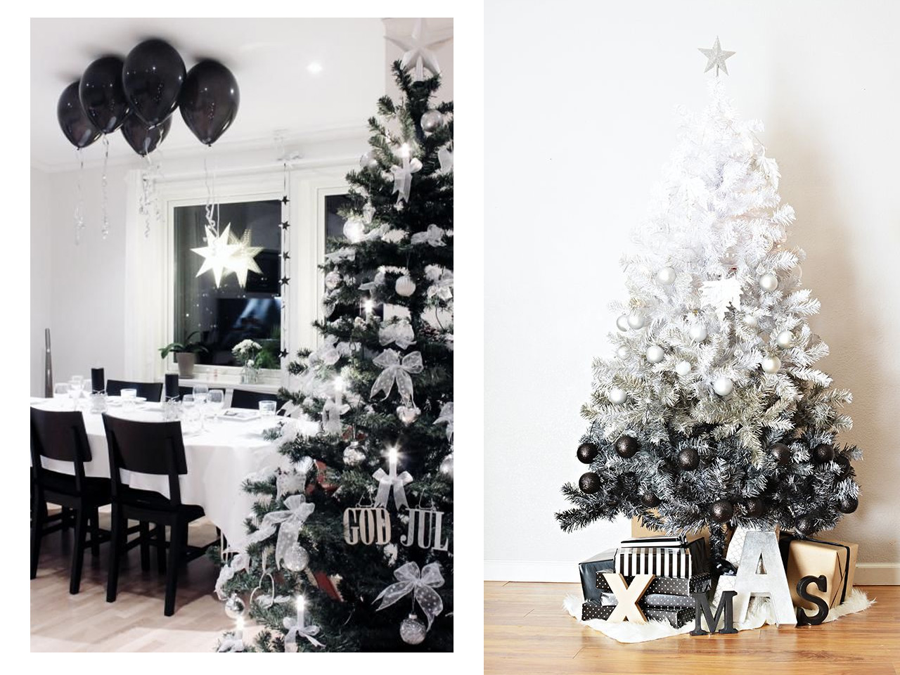 La magia de la decoraci n navide a en blanco for Decoracion para arboles de navidad blancos