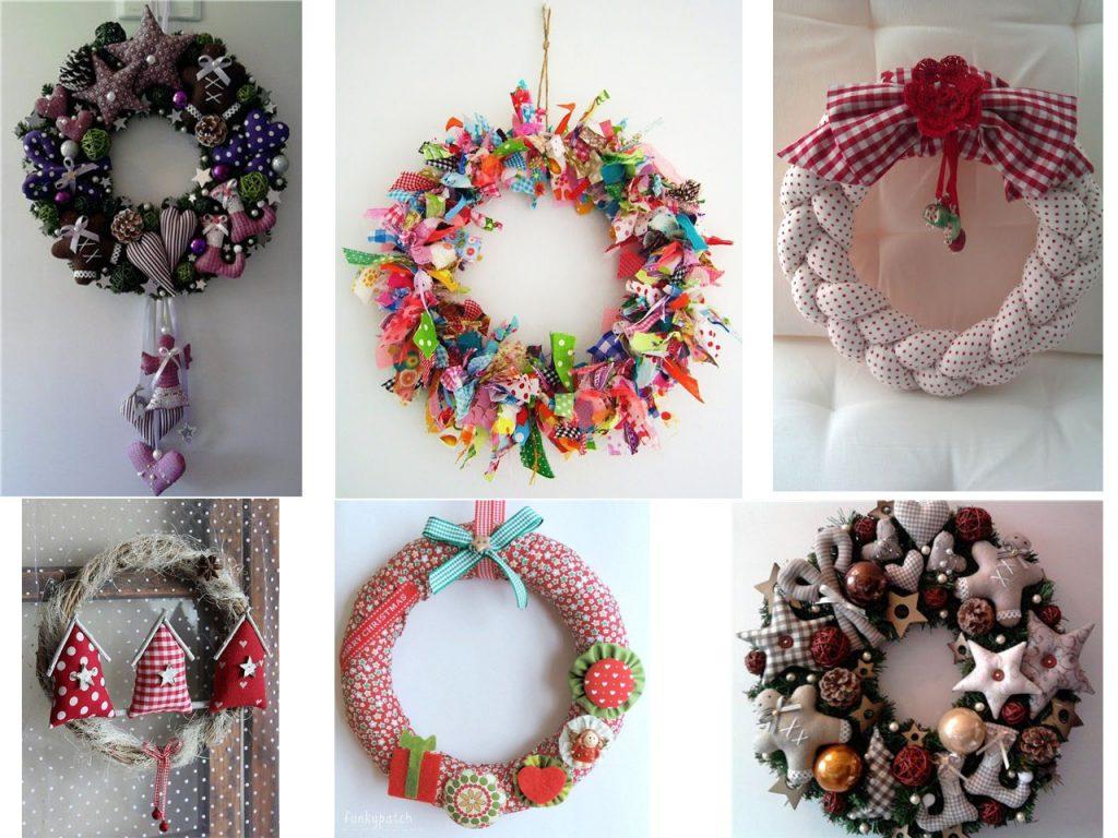 decoracion y ornamentos navideños con telas