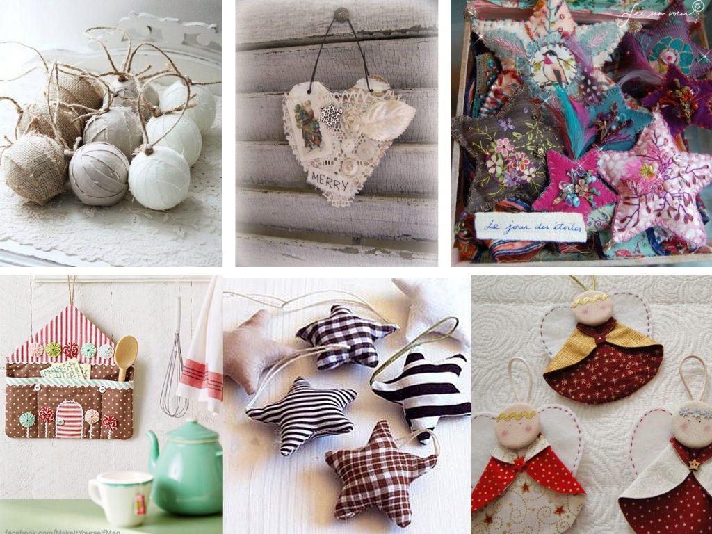 decoración navideña con telas