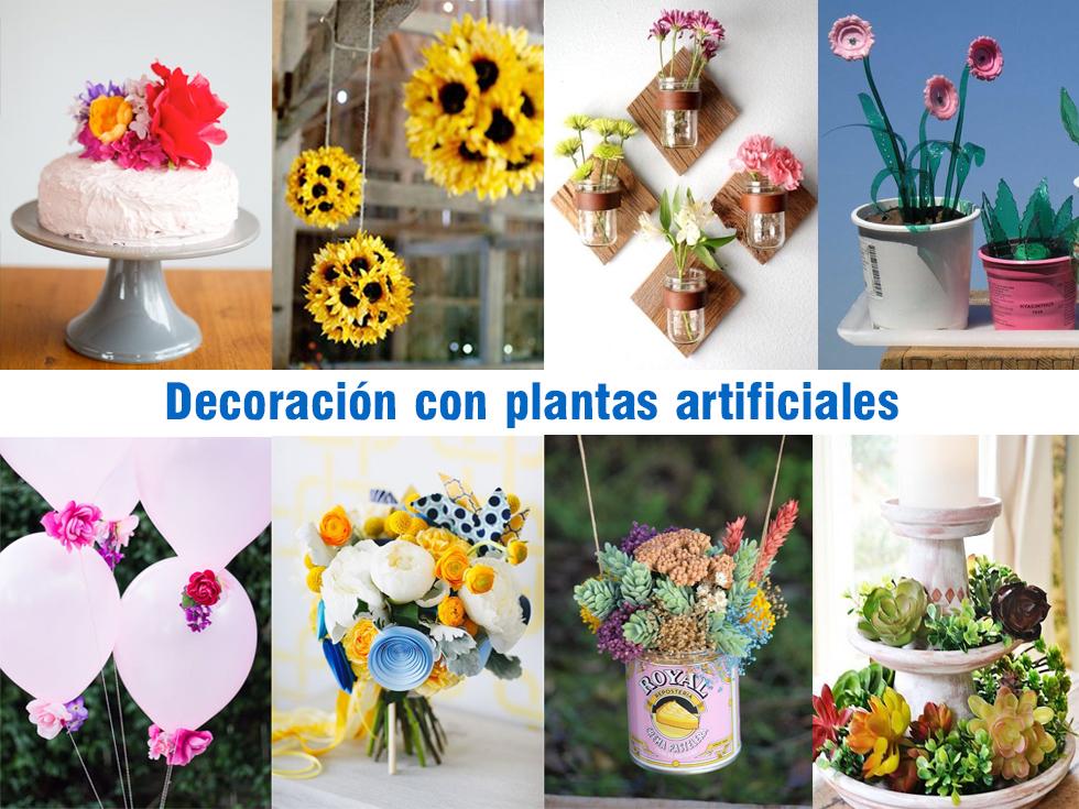 Decoraci n con plantas artificiales - Decoracion con flores artificiales ...