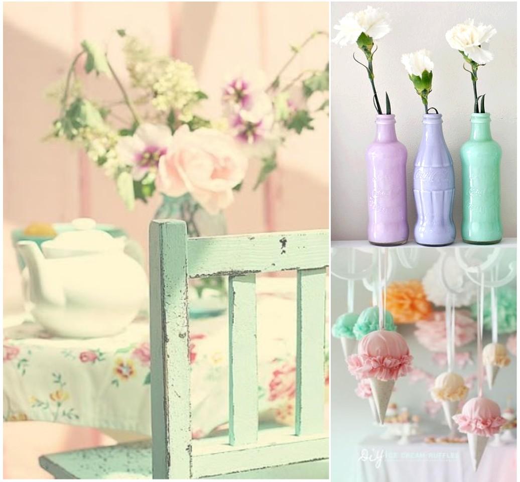 Vu lvete a enamorar de la decoraci n en colores pasteles for Decoracion para pared rosa