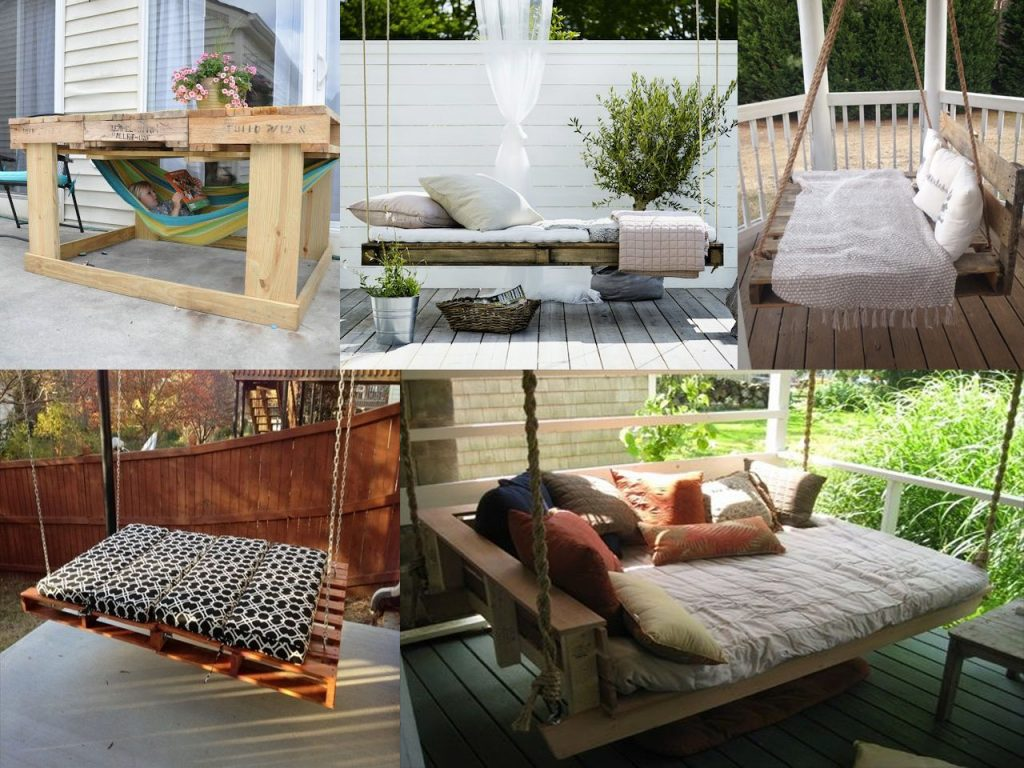 Ideas para la decoraci n de jardines con palets for Paredes de madera para jardin