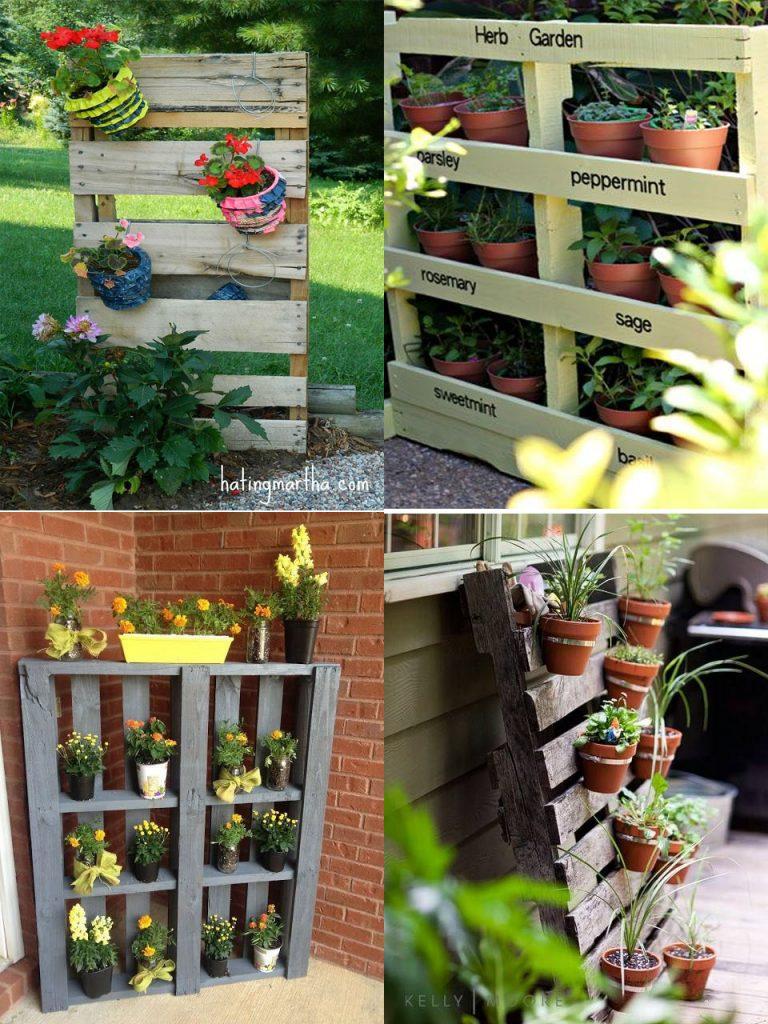 decoración de jardines con palets