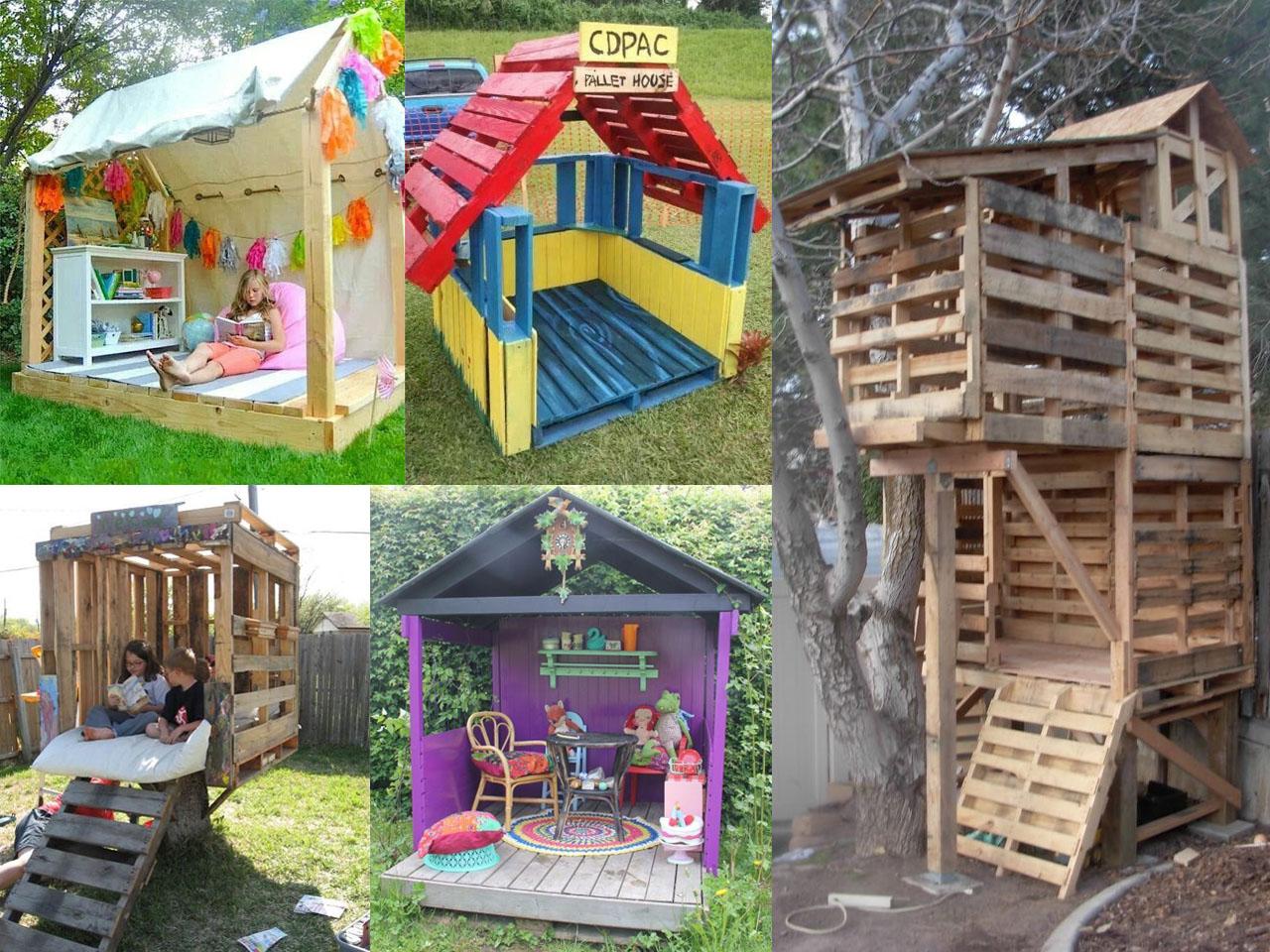 Las casas de palets para ni os m s divertidas for Casa de jardin ninos